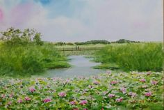 Jung In Sung, Watercolour, Weather, Paintings, River, Outdoor, Pen And Wash, Outdoors, Watercolor Painting