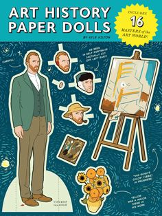 Here Are Your Favorite Artists As Paper Dolls. This would make a nice Illustrator assignment combined with art history.