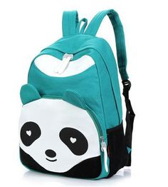 Free Shipping 2013New girls' travel Bag travel backpack campus bag lovely panda print backpack-in Backpacks from Luggage & Bags on Aliexpress.com