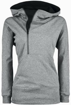 Gray Comfy Sport Hoodie for Ladies
