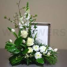 New Flowers Arrangements Funeral Centerpieces Ideas Altar Flowers, Church Flowers, Funeral Flowers, Silk Flowers, Wedding Flowers, White Flowers, Flowers Garden, Funeral Floral Arrangements, Large Flower Arrangements