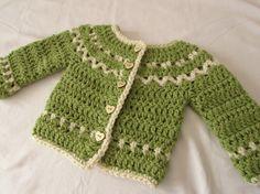 How to crochet a chunky, fair isle children's sweater / cardigan