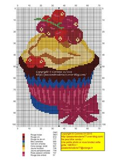 Cup cake fruits rouges