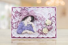 Tattered Lace - Dies - Spun Sugar Frame-The Spun Sugar Frame die includes 3 sizes of frame and 2 border dies, which can be mixed and matched together Birthday Wishes, Birthday Cards, Tattered Lace Cards, Lace Flowers, Signature Style, Different Styles, 3 D, Projects To Try, Card Making