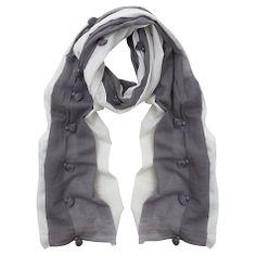 Buy Mint Velvet Tassle Scarf, Ivory Online at johnlewis.com