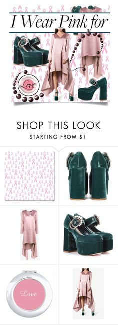 """""""I Wear Pink for the Power of Love"""" by haikuandkysses ❤ liked on Polyvore featuring Miu Miu and Sies Marjan"""