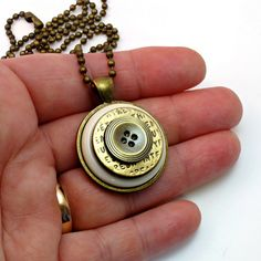 Cute Pendant with Vintage Buttons Everyday by BluKatDesign on Etsy