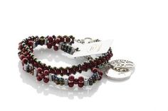 Floating Star Red Pearl Friendship Bracelet Set - KTC-334 - Kalitheo Creations