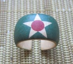 Star on Light Green with Pink Center  adjustable wood by HutchMade