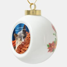 YOUR Pet Cat or Dog PHOTO Personalized Ceramic Ball Christmas Ornament - tap/click to get yours right now! #CeramicBallChristmasOrnament #christmas #holiday #ornament #pet #dog Christmas Tree Ornaments, Christmas Holidays, Inexpensive Gift, Pet Memorials, Holiday Festival, Dog Photos, Pet Dogs, Your Pet