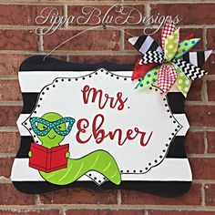 Check out our teacher door hangers selection for the very best in unique or custom, handmade pieces from our shops. Teacher Door Signs, Teacher Door Hangers, Teacher Doors, Teacher Classroom Decorations, Classroom Signs, Office Decorations, Future Classroom, Classroom Ideas, Teacher Treats