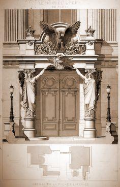 Lateral entrance to Garnier's Opera House, Paris