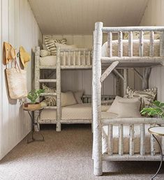 Rustic White interior design ideas Home Bedroom, Kids Bedroom, Cabin Bedrooms, Beach Bedrooms, Rustic Bedrooms, Bunk Bed Rooms, Custom Bunk Beds, Elegant Living Room, 3d Home