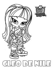 Baby Cleo printable coloring sheet from JadeDragonne at Deviant Art