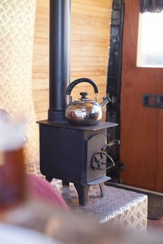 Quirky Campers - Bristol - Maya A gorgeous woodburner in this Bristol campervan conversion