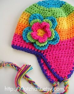 Good to have in your pattern stash - can be worked in any size, any yarn. Pattern not provided here, but should be easy to work out. Bonnet Crochet, Crochet Beanie, Knit Or Crochet, Cute Crochet, Crochet Crafts, Yarn Crafts, Girl Crochet Hat, Crochet Winter, Crochet Kids Hats