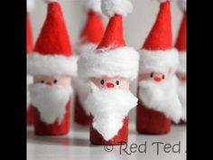 Kids Craft: Santa Corks (& Santa Bowling) - Red Ted Art's Blog