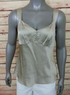 Ann Taylor silk blouse sleeveless tank womens size 8 casual wear to work #AnnTaylor #TankCami #Casual