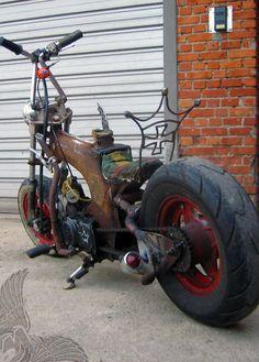 honda dax chopper - the suicide | the old garage