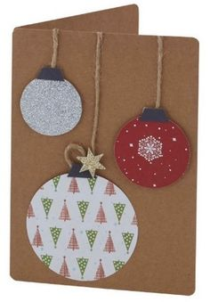 This holiday season hand out these DIY Christmas Cards to your loved ones and tell them how much you care. These Handmade Christmas cards are easy & cheap. Simple Christmas Cards, Christmas Crafts To Make, Homemade Christmas Cards, Christmas Baubles, Christmas Projects, Homemade Cards, Holiday Cards, Christmas Cards Handmade Kids, Christmas Decorations