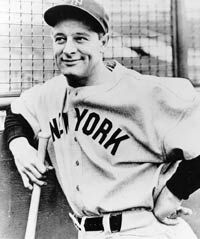 Lou Gehrig American baseball player died from MND also known as Lou Gehrig's disease in America