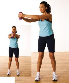 Torsions, debout http://www.plaisirssante.ca/ma-sante/forme/4-exercices-pour-raffermir-votre-abdomen?slide=3 #fitness