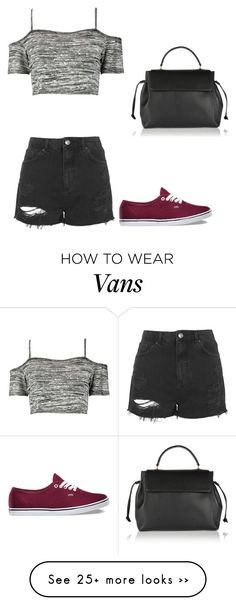 """Untitled #211"" by minakahveci on Polyvore featuring Topshop, Boohoo, Vans and Lanvin"