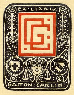 Bookplate by Emil Orlik for Gaston Carlin, ??