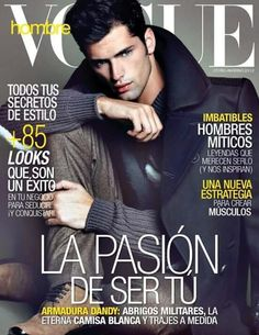 Supermodel Sean O'Pry is the cover boy of Mexico's Vogue Hombre, fronting the autumn winter 2012 edition. Sean O'pry, Cover Boy, Cover Pics, Frida Kahlo Work, American Male Models, Moda Men, The Fashionisto, Vogue Men, Fashion Cover