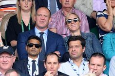Zara, 36, and Mike, 38, who both have a sporting background, took their seats in the Royal Box at the All England Lawn Tennis and Croquet Club in order to secure a killer view of Andy Murray's game against Benoit Paire this afternoon.