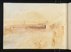 Joseph Mallord William Turner, 'The Jetties ?at Dieppe' 1845 (J. Turner: Sketchbooks, Drawings and Watercolours) Turner Watercolors, Joseph Mallord William Turner, English Artists, Landscape Paintings, Oil Paintings, Watercolor Sketch, Covent Garden, Old Master, Modern Art