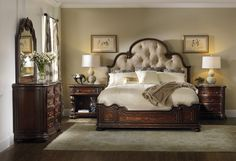 Grand Palais King Upholstered Panel Bed | Hooker Furniture | Home Gallery Stores