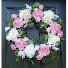 Spring Door Wreath~Farmhouse Wreath~Cottage Door Wreath~French Country Wreaths~Wreath for front porch~Easter Wreaths~Mothers Day Gifts Lavender Wreath, Hydrangea Wreath, Floral Wreaths, Ribbon Wreaths, Yarn Wreaths, Tulle Wreath, Burlap Wreaths, Christmas Mesh Wreaths, Winter Wreaths
