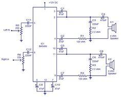 BA5406 stereo amplifier