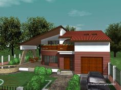 case-cu-etaj-00-001 Cabin Homes, House Plans, 1, Dena, Outdoor Decor, Houses, Home Decor, Homes, Home Plans