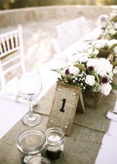Une table de mariage campagne chic