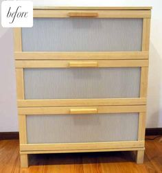 DIY  ikea hacks.  this is the BEFORE PICTURE       new-dresser-013 (I actually have this.  HI've been planning on DIY~ing it, but haven't yet.  Now Ive got some ideas.