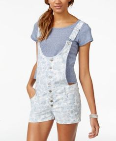 Tinseltown Juniors' Denim Shortalls