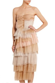 Shop on-sale Burberry Prorsum Tiered silk-organza dress. Browse other discount designer Dresses & more on The Most Fashionable Fashion Outlet, THE OUTNET.COM