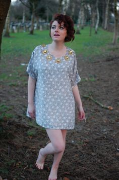 """Over-sized silk """"flighty"""" top with embellishment.. £40.00, via Etsy."""