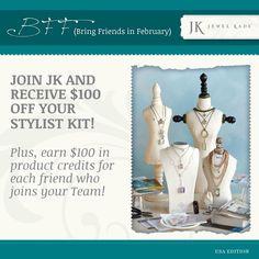 This is a pretty amazing promotion.  $600 of jewlery for $149.  Wow!  www.jewelkade.com/katherine :)