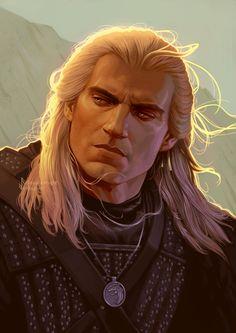 Geralt 02 by Aquila--Audax on DeviantArt Witcher 3 Art, The Witcher Geralt, The Witcher Books, Ciri, Fantasy Male, Fantasy Warrior, Witcher Wallpaper, Film Anime, Medieval Fantasy