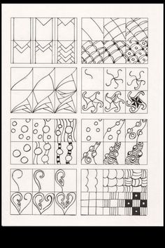 Zentangle Patterns http://www.pinterest.com/melbatoesed/zen-doo-patterns/