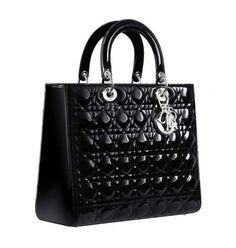 Borse Dior più belle: modelli e prezzi - Lady Dior nera in vernice
