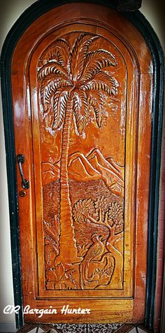Every hand carved door is different. Carved Door, Hand Carved, Entrance Doors, Wooden Doors, Door Design, Costa Rica, Wood Working, Carving, Home Decor