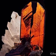 Brookite | #Geology #GeologyPage #Mineral    Locality: Kharan District, Balochistan, Pakistan  FOV: 17 mm    Photo Copyright ©️️ Andreas Schmid    Geology Page  www.geologypage.com    #Regram via @geologypage