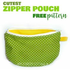 zippered pouch tutorial with a free pattern - You can't have enough zippered pouches. They are my favorite items to sew, and they make perfect holiday gifts. Follow this easy, step-by-step tutorial and sew one of these beauties yourself! Diy Pouch No Sew, Diy Purse No Sew, Sew Wallet, Clutch Wallet, Pencil Case Pattern, Free Sewing, Sewing Patterns Free, Sewing Tutorials, Free Pattern
