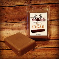 CALLING MAN: Put this on. Rub this all over your body. Smoke it and never stop smoking it. #themostdisgustingsmellever #theperfectgiftforyourman Sweet Cigar Scented Soap 3 oz. Bar by ManHandsSoap on Etsy, $6.95