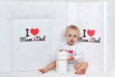 Kolekce kojeneckého oblečení a potřeb New Baby I love Mum and Dad New Baby Products, Dads, My Love, Fathers