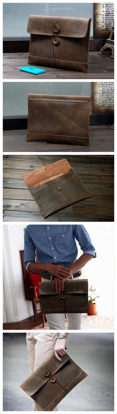 Handmade Leather #messenger bag, leather #shoulder #bag, #leather #briefcase